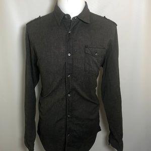 BillaBong XL X-Large  Men's Shirt Button Down Gray